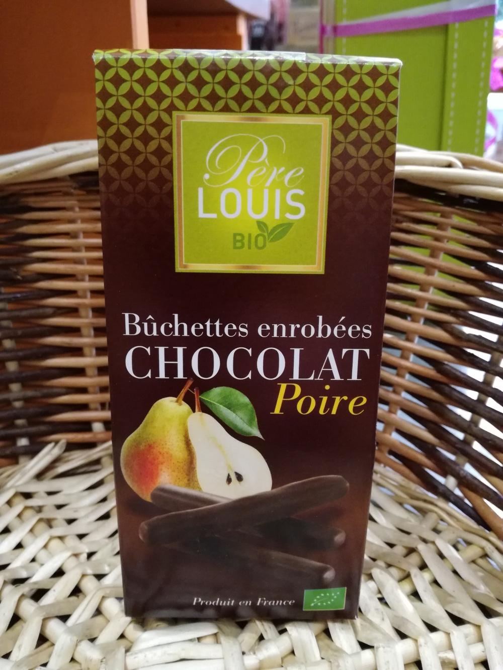 les bûchettes chocolat poire